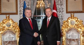 Cumhurbaşkanı Erdoğan, Poroşenko ile bir araya geldi