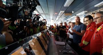 Fatih Sondaj Gemisi ilk sondaj için Akdeniz sularında